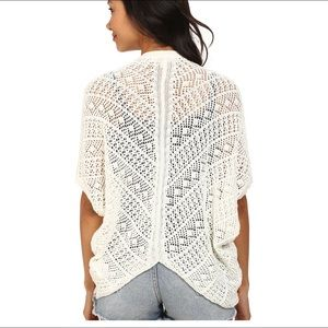 Roxy short sleeve cardigan sweater